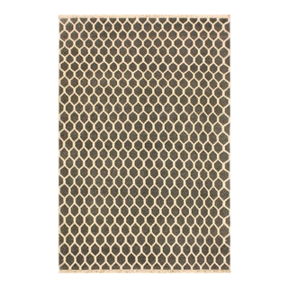 Ailsa Modern Valrie Gray/Ivory Wool&Silk Rug - 4'1 X 6'5 For Sale