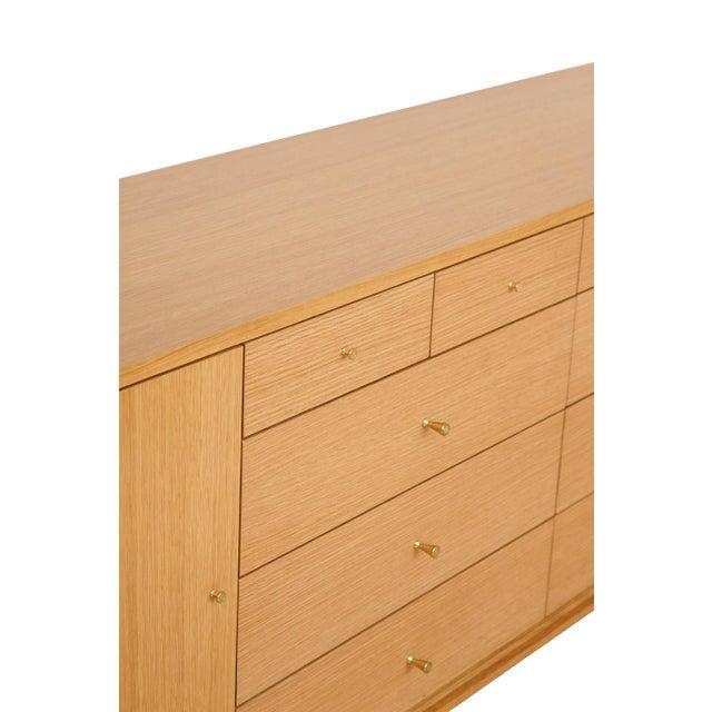 Metal Trapp 20-Drawer White Oak Dresser For Sale - Image 7 of 8