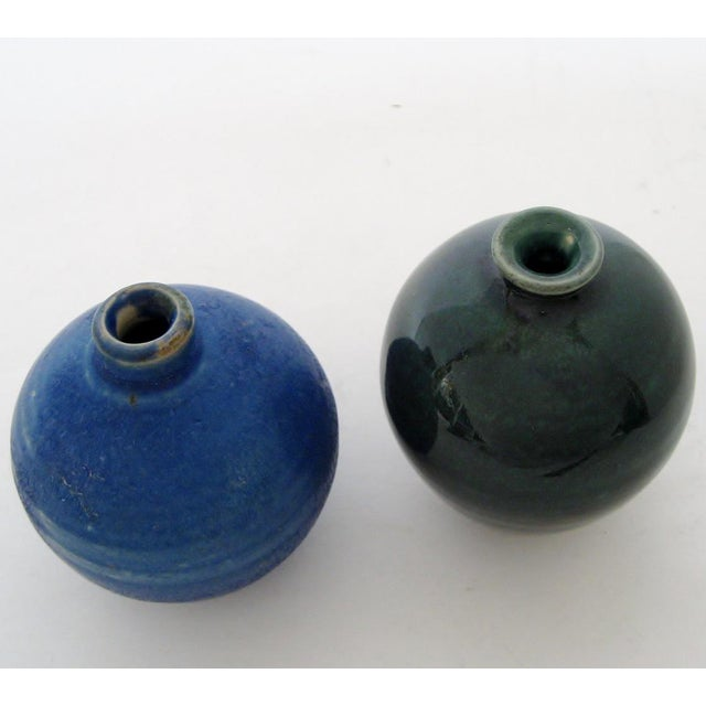 Petit Ceramic Vases - A Pair For Sale - Image 4 of 5