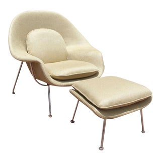 1980s Saarinen by Knoll Womb Chair and Ottoman - A Pair