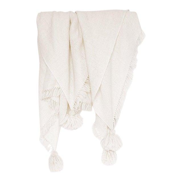 Handmade Ivory Pampa Alpaca Throw For Sale