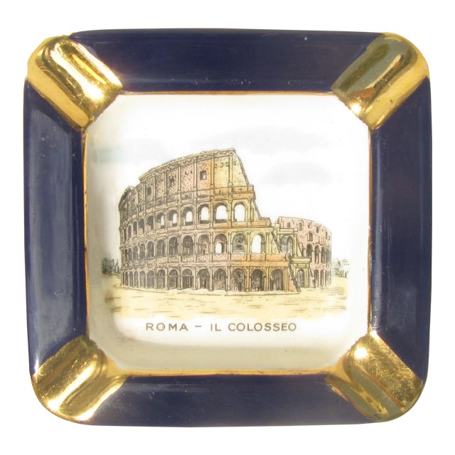 Midcentury Italian Souvenir Ashtray For Sale
