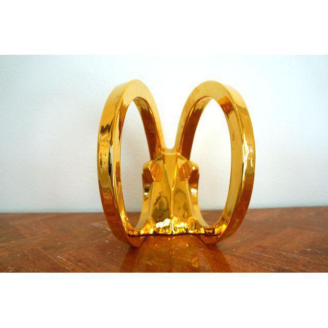 Jaru Gold Ibex Rams Head Statue by Jaru For Sale - Image 4 of 8