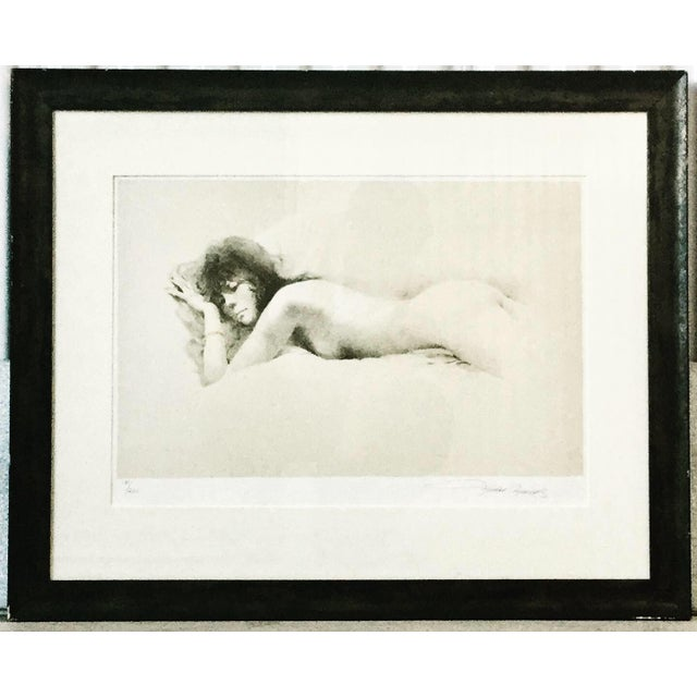 """1970s 1970s Vintage """"Nude I"""" Maher Morcos Lithograph Print For Sale - Image 5 of 5"""