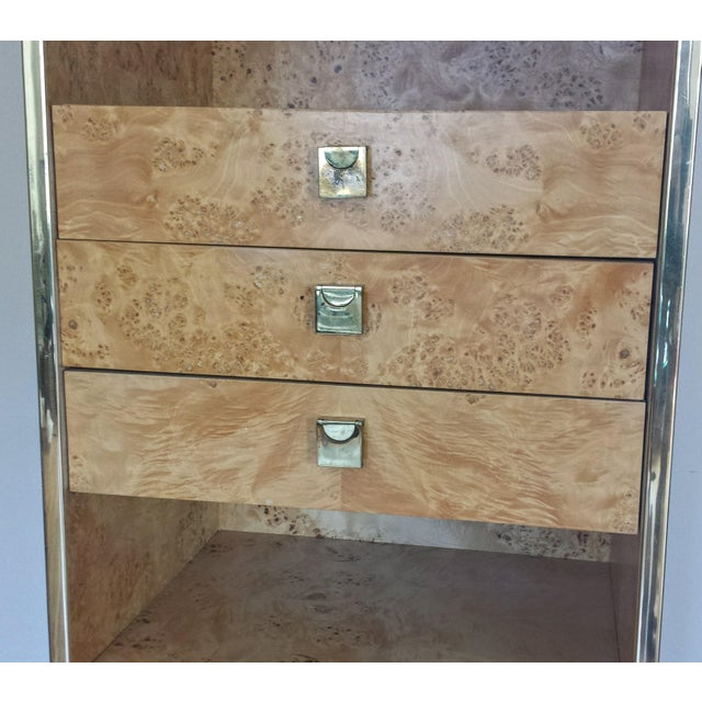Founders Brass and Burl Storage Unit - Image 5 of 9