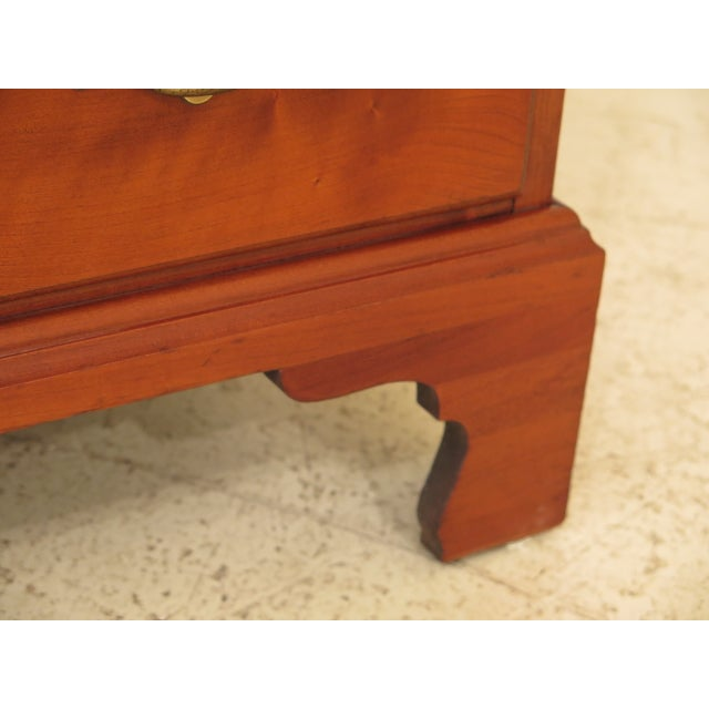 1960s Henkel Harris Solid Cherry Rafferty High Chest For Sale - Image 5 of 13
