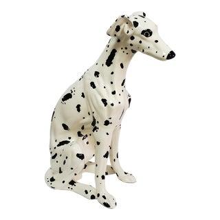 Life-Size Vintage 1980s Ceramic Dalmatian Dog Sculpture For Sale