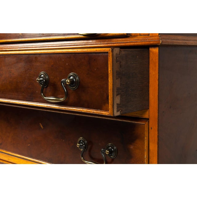 Copper Antique Mahogany Desk Front Hutch or Cabinet For Sale - Image 8 of 13