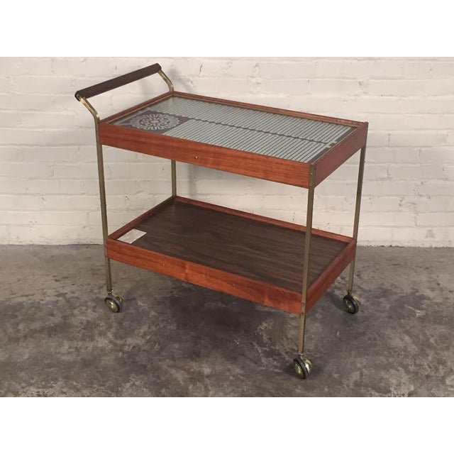 Mid-Century Modern Mid-Century Modern Salton Hot Tray Cart For Sale - Image 3 of 9