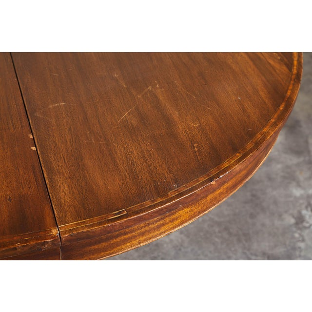 Wood 19th C. English Mahogany Pedestal Table For Sale - Image 7 of 9