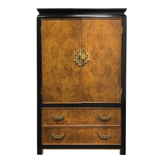 1980s Century Chin Hua by Raymond K Sobota Asian Style Armoire / Gentleman's Chest For Sale