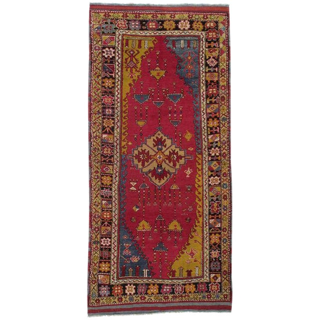 Antique West Anatolian Long Rug For Sale
