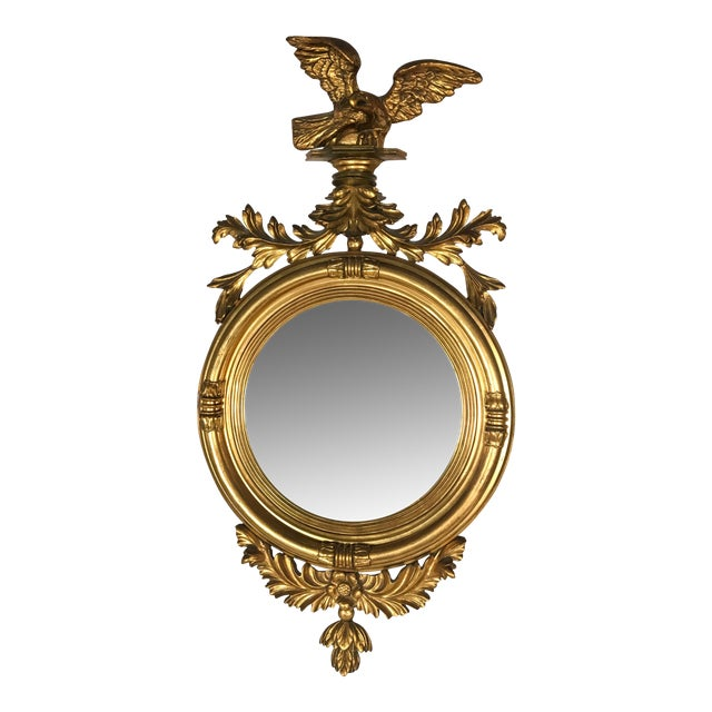 Federal Style Italian Convex Mirror - Image 1 of 5
