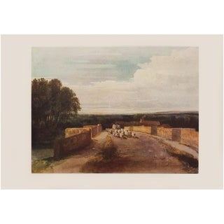 "Cottage Style 1950s David Cox ""Landscape With Returning Herd"", Large Vintage Photogravure For Sale"