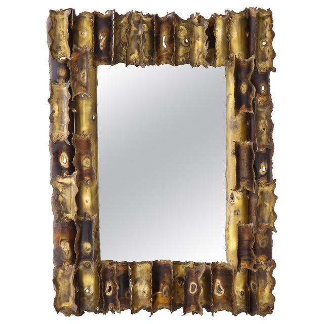 Tom Greene Custom Made Brutalist Mirror For Sale - Image 12 of 12