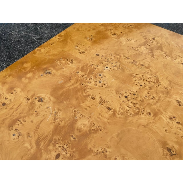 Wood MidCentury Dillingham Burl Wood Dining Table For Sale - Image 7 of 12