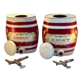 Vintage Porcelain Beverage Dispensers - a Pair For Sale