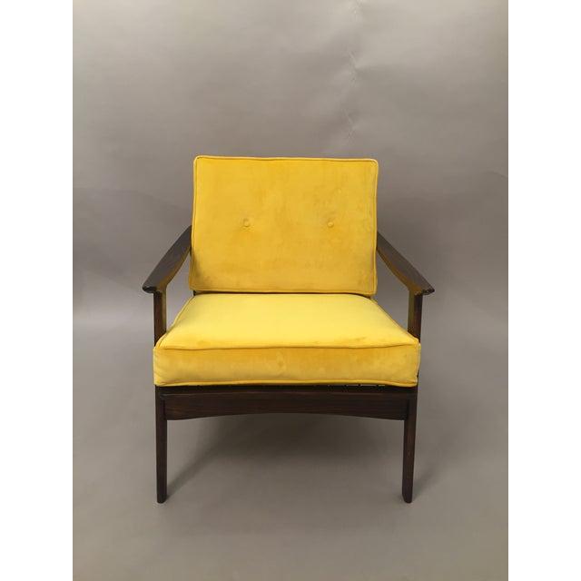 Mid-Century Modern Restored Arm Chair Velvet Cushions - Image 4 of 11