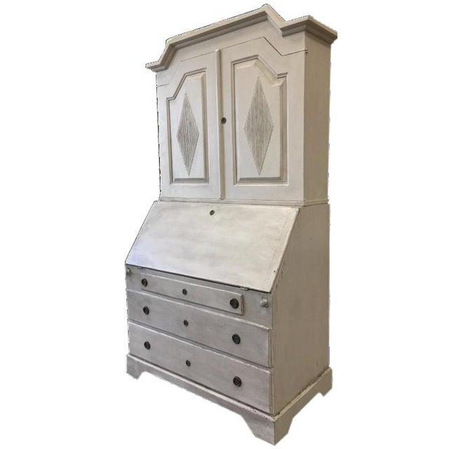 Swedish Antique White Gustavian Secretary Desk - Swedish Antique White Gustavian Secretary Desk Chairish
