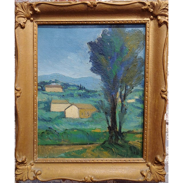 """Italian Country side - 1920s Oil painting oil painting on board - signed in verso frame size 13 x 15"""" board size 9 x 11"""" A..."""