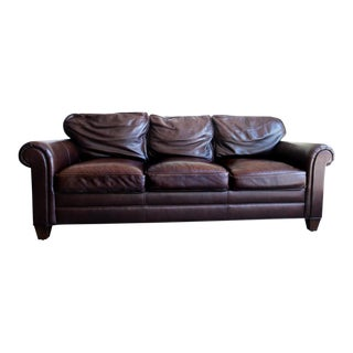 Stickley Craftsman Leather 3-Seater Sofa For Sale
