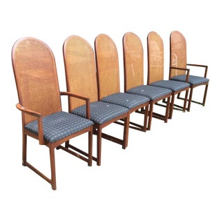 Milo Baughman Directional Dining Room Chairs - Set of 6