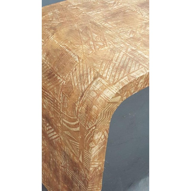 Mid 20th Century Unusual Hand-Stenciled Bark Console Table For Sale - Image 5 of 7