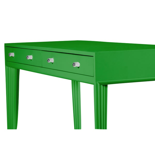 David Francis Barcelona Desk - Bright Green For Sale - Image 4 of 6