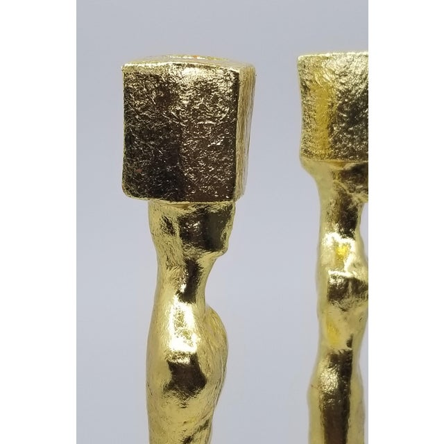 Mid Century Modern Candlesticks - Candle Holders - Giacometti Style - Restored For Sale - Image 9 of 13