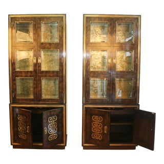 Mastercraft Burlwood Tall Cabinets For Sale