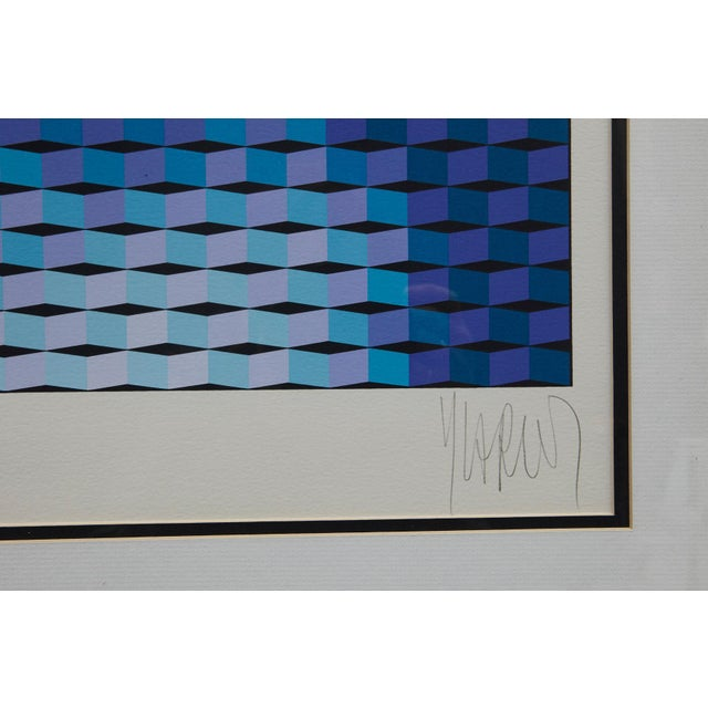 """Yvaral (Jean-Pierre Vasarely) """"Mona Lisa"""" Serigraph For Sale In New York - Image 6 of 8"""