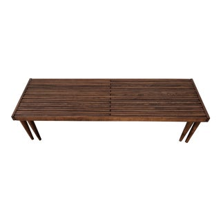 Mid Century Extending Slat Bench/Coffee Table For Sale