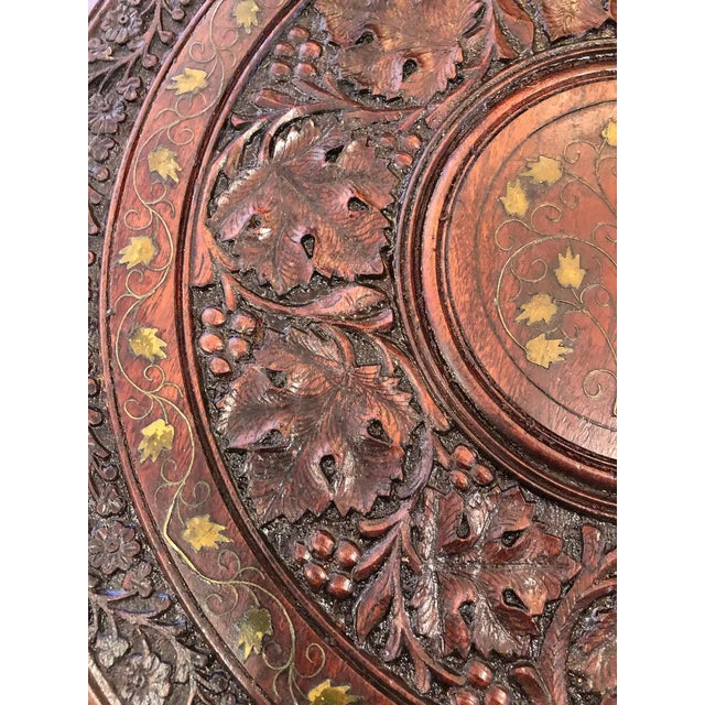 Sized Round Moorish Anglo-Indian End Table For Sale - Image 4 of 8