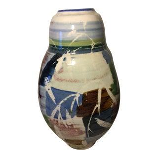 Vintage Ceramic Art Studio Vase For Sale