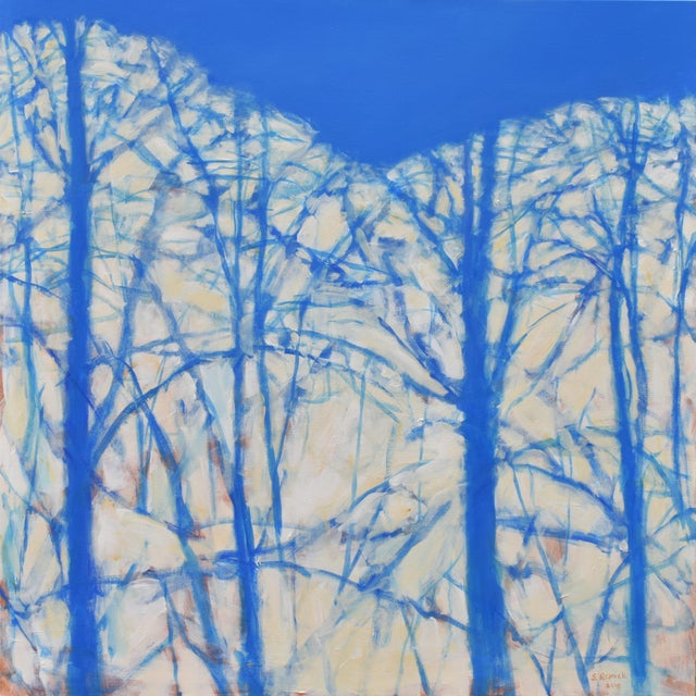 """Abstract """"A Sky So Blue"""" Abstract Painting by Stephen Remick For Sale - Image 3 of 3"""