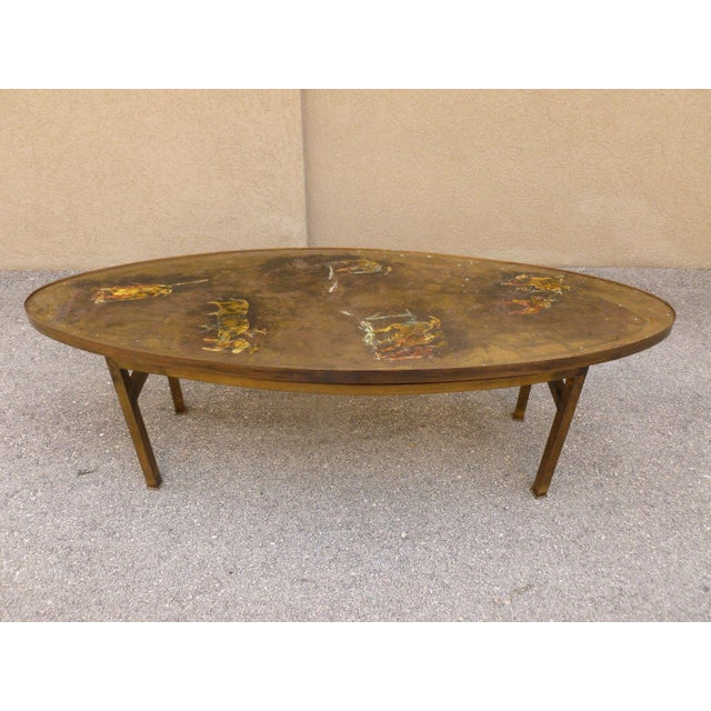 1960's Vintage Philip and Kelvin Laverne Chinese Design Bronze Coffee Table For Sale - Image 13 of 13