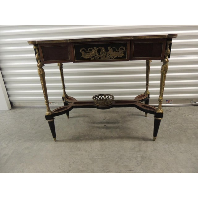 Vintage Reproduction of Louis XVI Style Center Table For Sale - Image 10 of 10