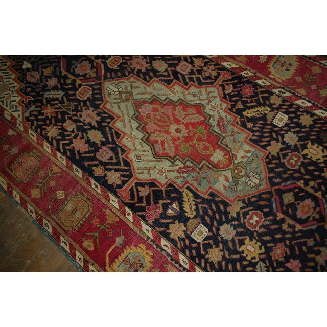 1880s Antique Hand Made Caucasian Karabagh Rug- 4′6″ × 11′7″ For Sale In New York - Image 6 of 10