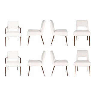 Customizable Set of Eight Hofford Dining Chairs For Sale