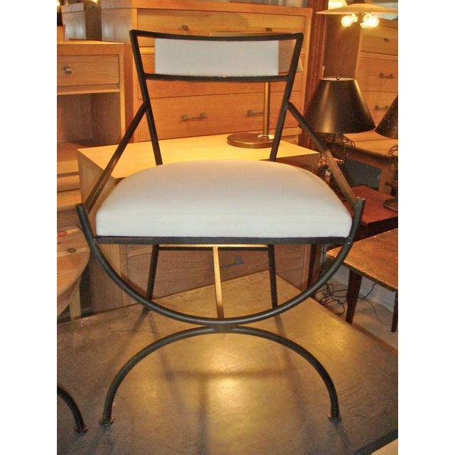 Pair of Mid Century Iron Chairs - Image 2 of 8