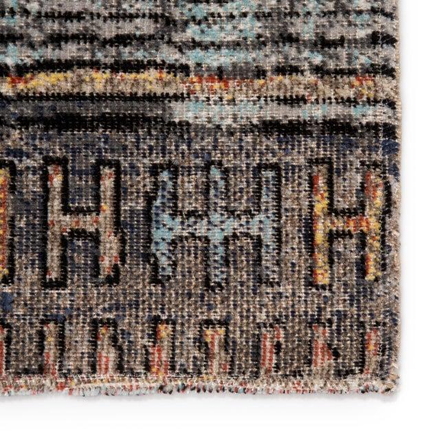 """Jaipur Living Dez Indoor Outdoor Tribal Blue Orange Runner Rug 2'6""""X8' For Sale - Image 4 of 9"""