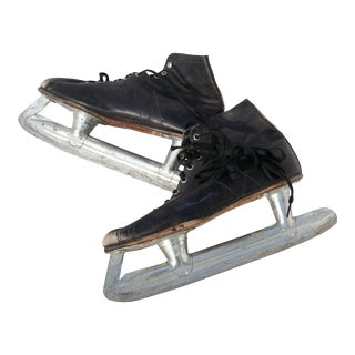 Vintage Ice Skates - a Pair For Sale