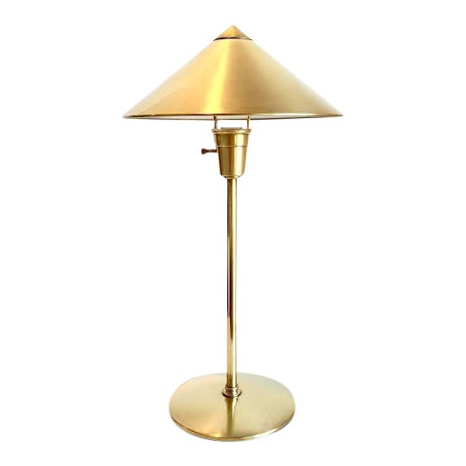 Mid-Century Atomic Brass Desk Lamp - Image 1 of 6