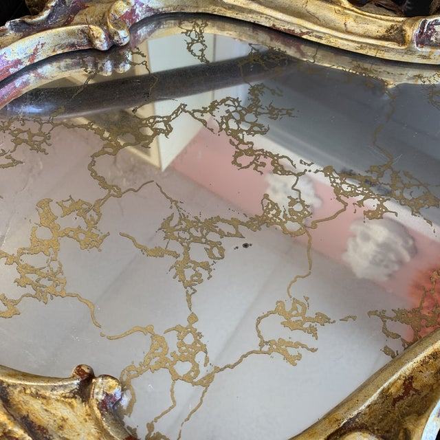 Metal Chunky Rococo Italian Leaf Gilt Mirror For Sale - Image 7 of 12