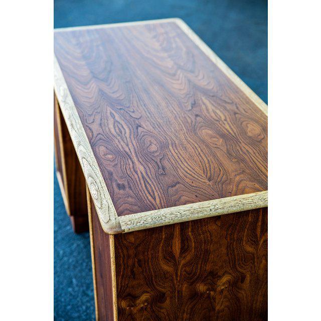 Vintage Mid-Century Lane Furniture Perception Partner Desk For Sale In San Francisco - Image 6 of 8
