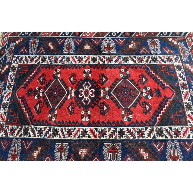 Islamic 1980s Turkish Oushak Aztec Anatolian Tribal Hand Knotted Wool Carpet For Sale - Image 3 of 12