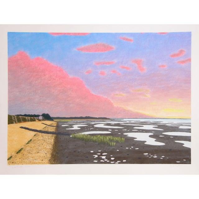 Bill Sullivan Low Tide 15 Hand Colored Lithograph For Sale