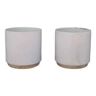 Vintage Ceramic Glazed Planters - a Pair For Sale