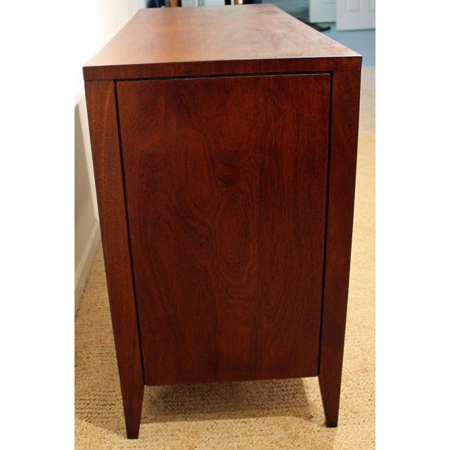 Mid-Century Danish Modern Hidden Pull Walnut Credenza For Sale In Philadelphia - Image 6 of 11