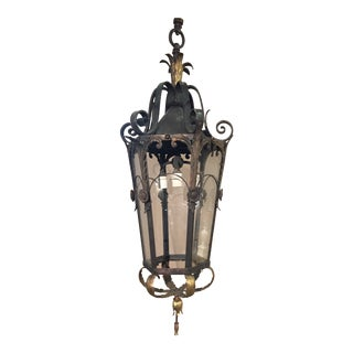 Electrified French Bronze Lanterns, Hanging or Wall-Mount For Sale